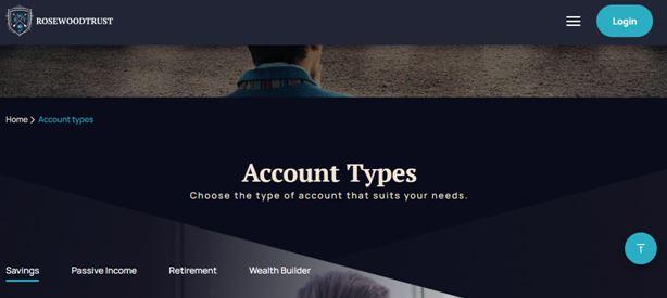 RosewoodTrust Account Types